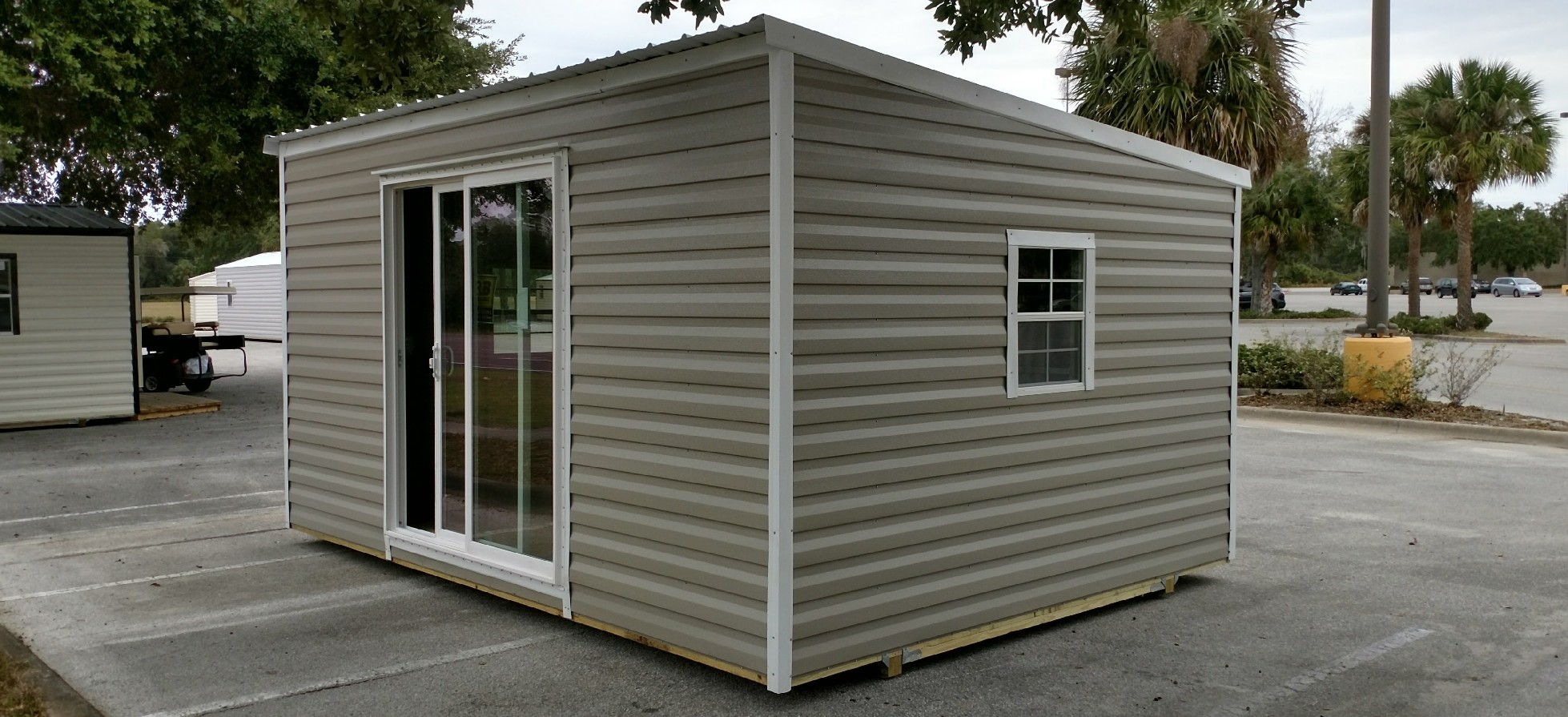 Sheds metal buildings garages pole barns carports for Single slope carport