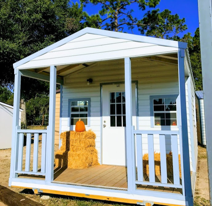 Porch modle shed fall pumpkin sheds hay sheds fall cute fall shed Robin sheds Probuilt Structures Sheds For Sale In Central Florida Shed in citrus county and sheds in marion county