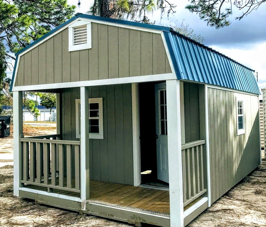 Porch modle gambrel lofted barn sheds smart sidng sheds for sale Robin sheds Probuilt Structures Sheds For Sale In Central Florida Shed in citrus county and sheds in marion county