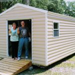 10x24 metal sidng shed for sale happy customers shed with ramp Robin sheds Probuilt Structures Sheds For Sale In Central Florida Shed in citrus county and sheds in marion county