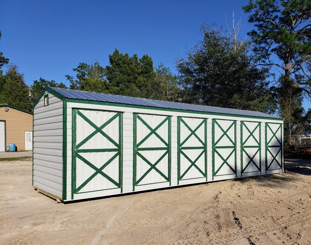 Probuilt Structures Sleel Building Storage Building Sheds She Sheds Man Cave Logo sheds for sale farm shed