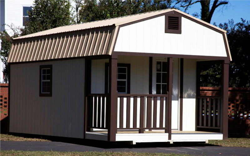 Gambrel High Lofted Cabin