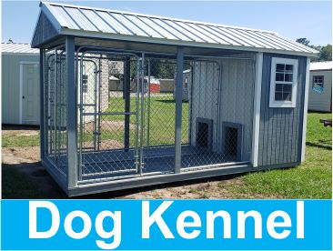 Probuilt Structures Sleel Building Storage Building Sheds She Sheds Man Cave Logo dog kennel quote image